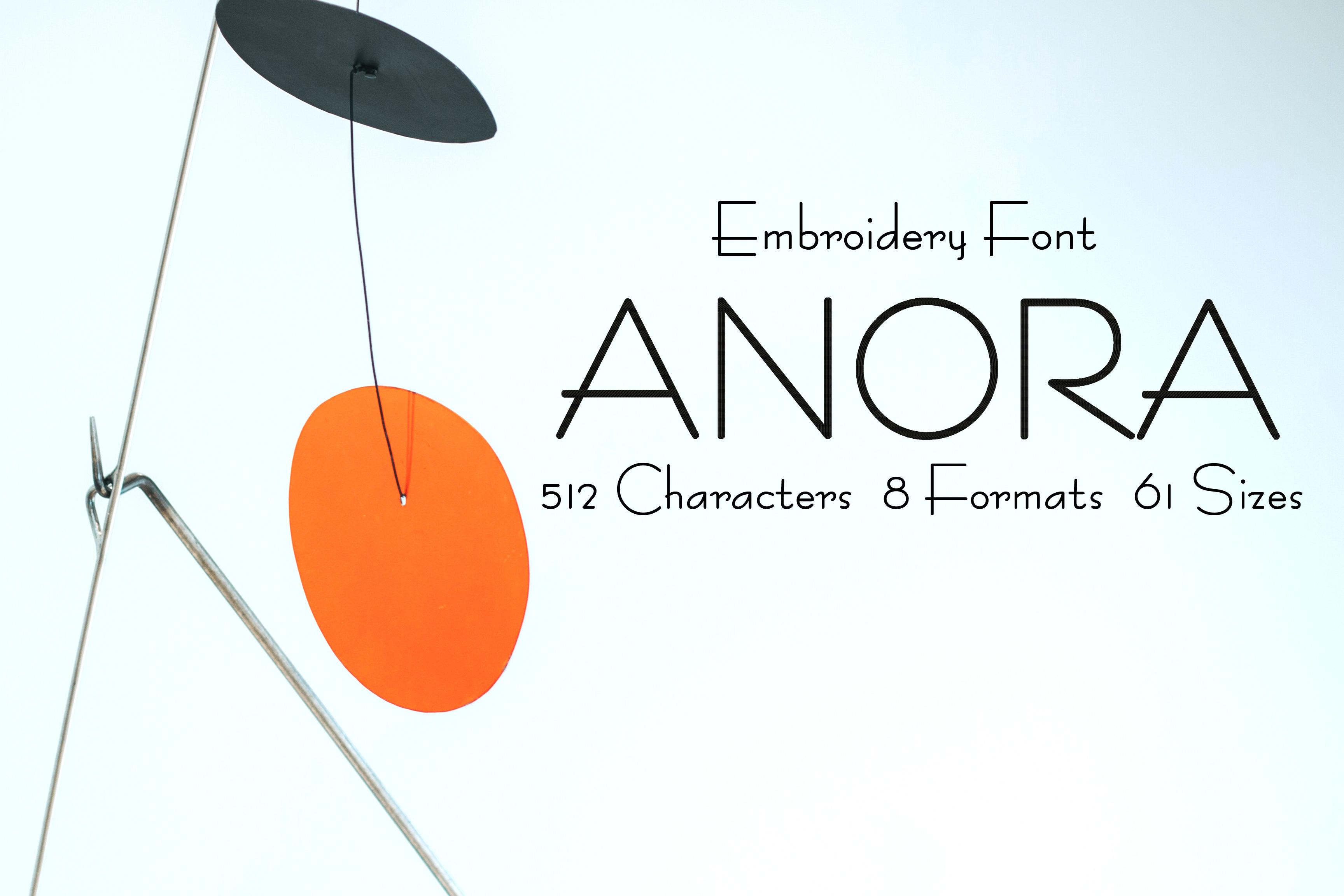 Anora Elegant Minimalist Retro Font