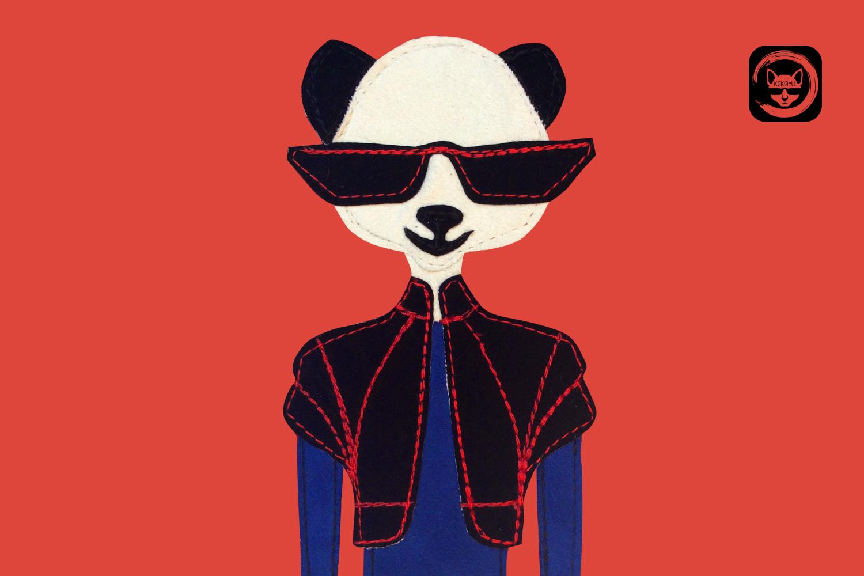Mrs Panda Phone Crossbody