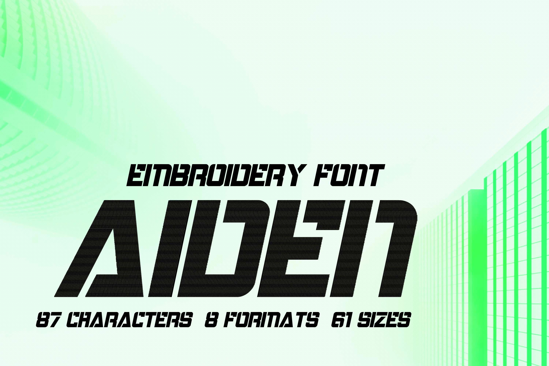 Aiden Modern Techno Font