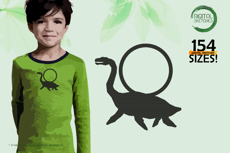 Dinosaurs-Plesiosaurus-Dinosauria-Long-Necked Marine Reptile-Frame