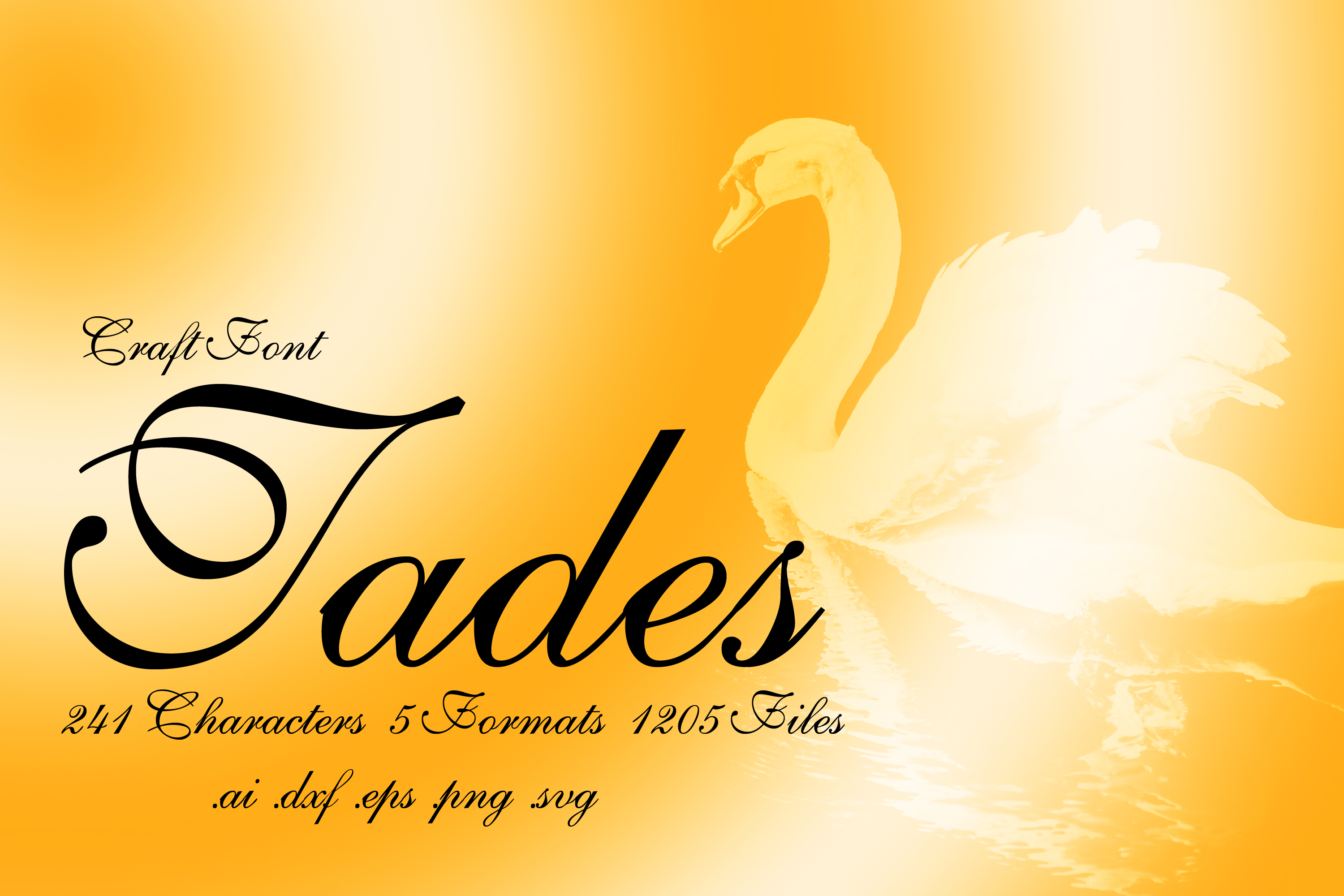 Calligraphy Font Tades