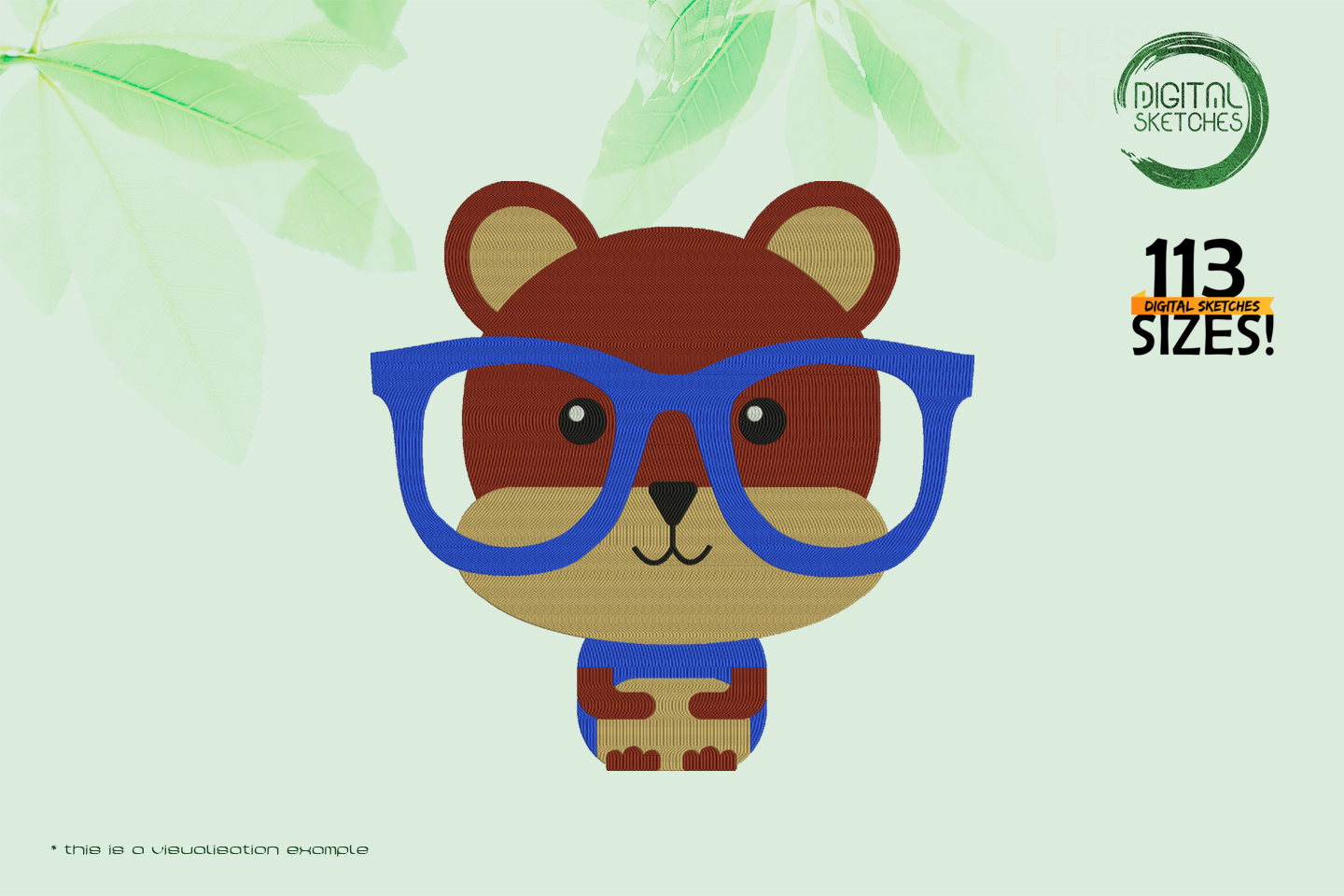 Hipster Bear With Glasses