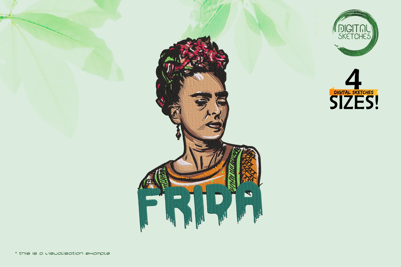 Tribute To Artist Magdalena Carmen Frieda Kahlo Y Calderon aka Frida Kahlo (Colored Portrait)