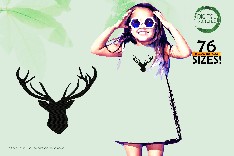 Deer Head Antlers