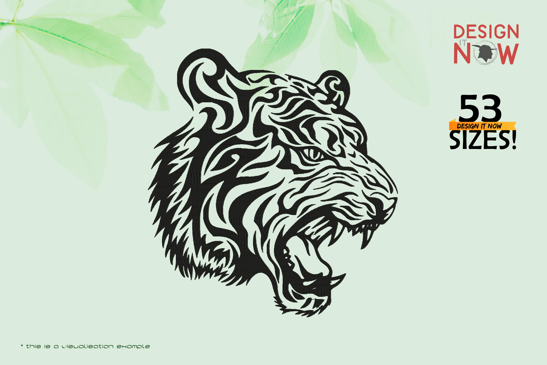 Tiger Head Line Art IV