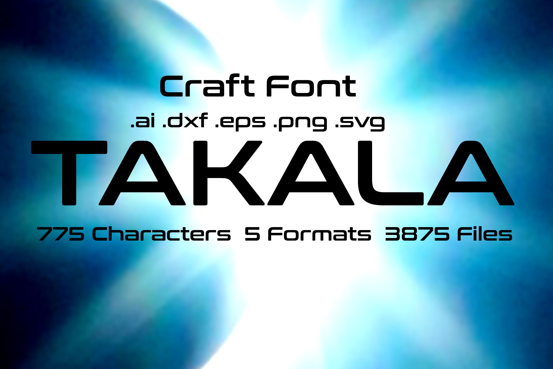 Takala Modern Techno Font