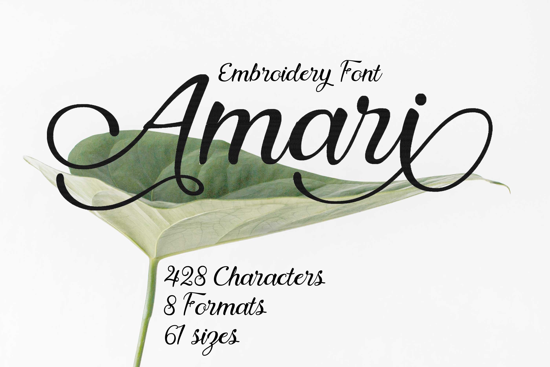 Amari Elegant Wedding Calligraphy