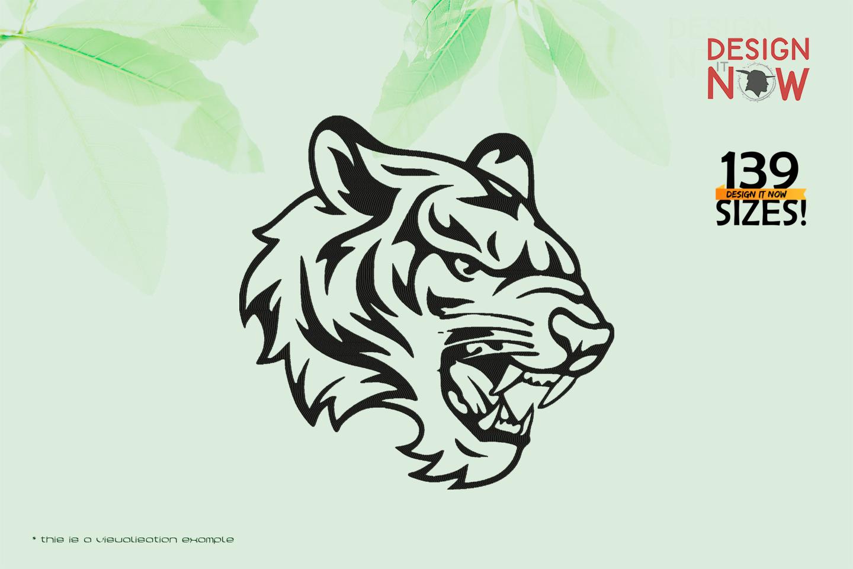 Tiger Head Line Art V
