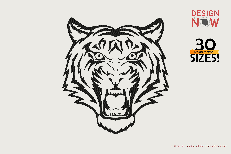 Tiger Head Line Art II