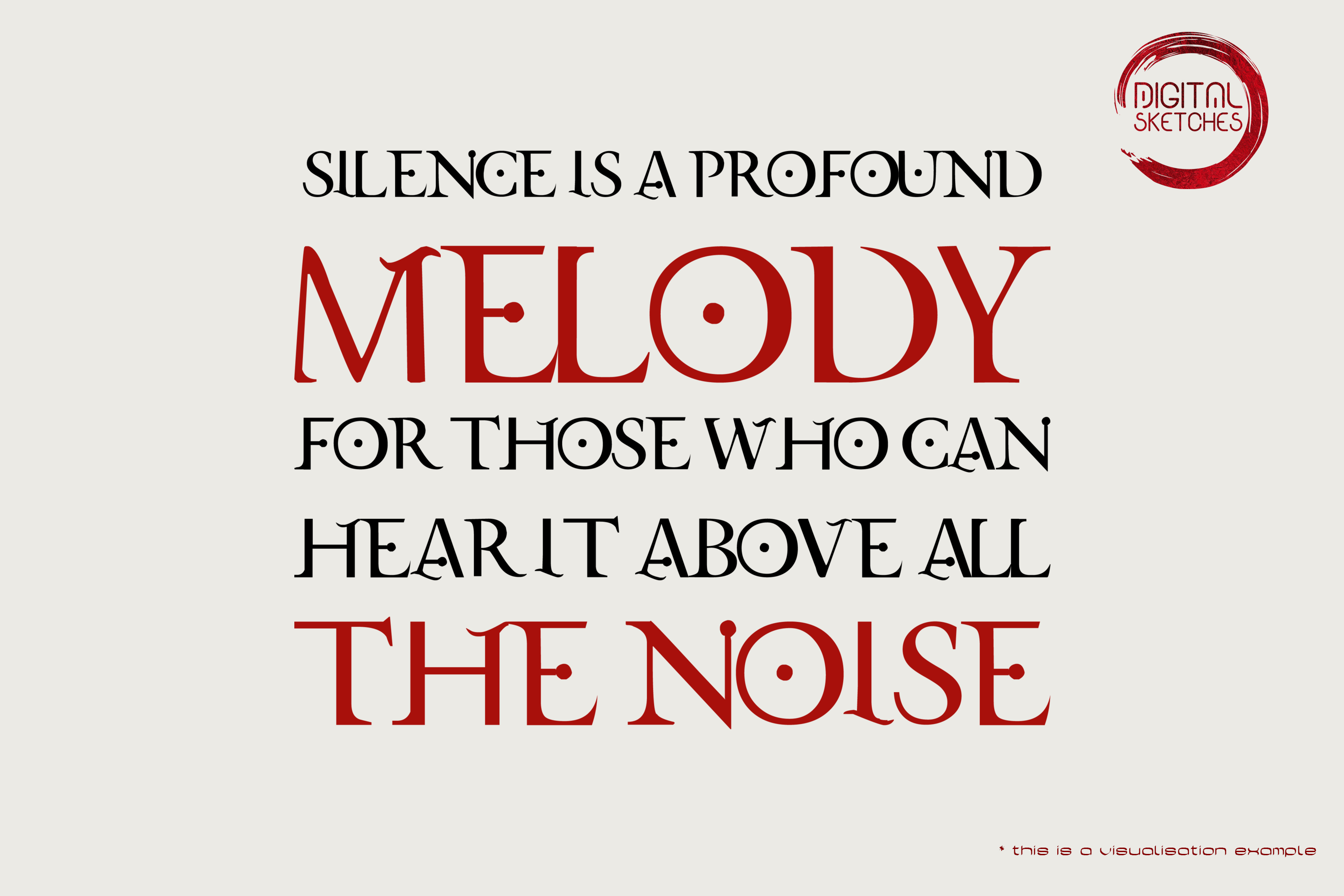 Silence Is A Profound Melody