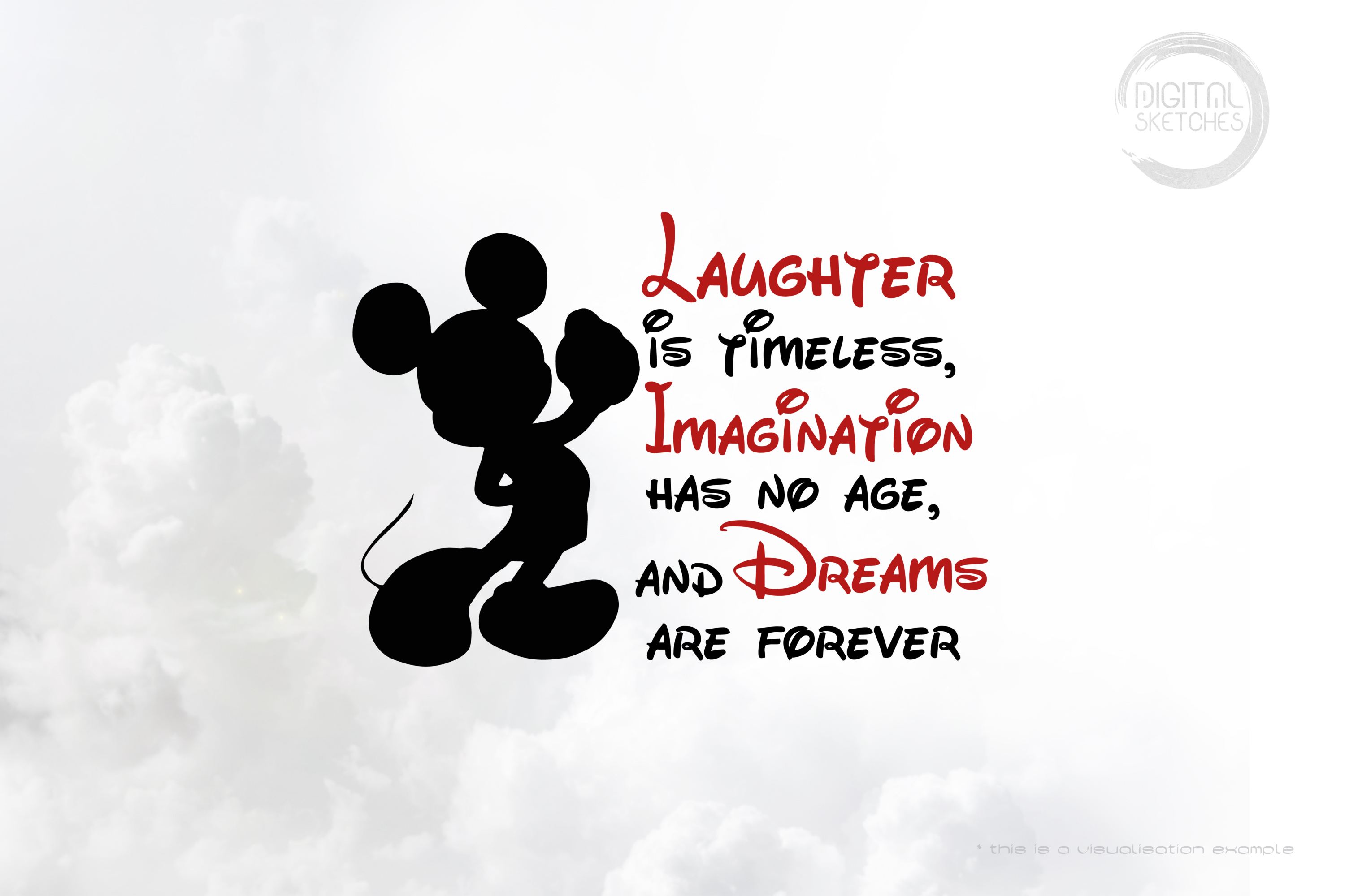 Laughter Imagination Dreams Mouse Quote