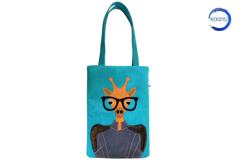 Lady Giraffe Tote Bag