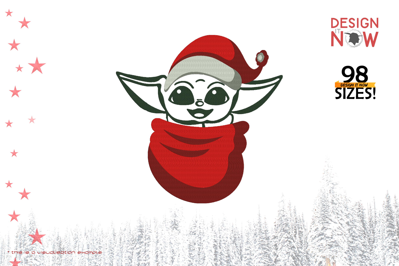 Tribute To Fictional Character Grogu aka Baby Yoda (Santa)
