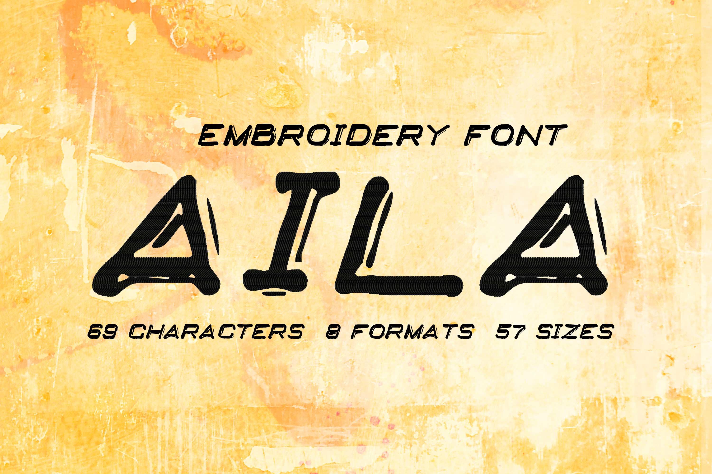 Aila Italic Embossing Type
