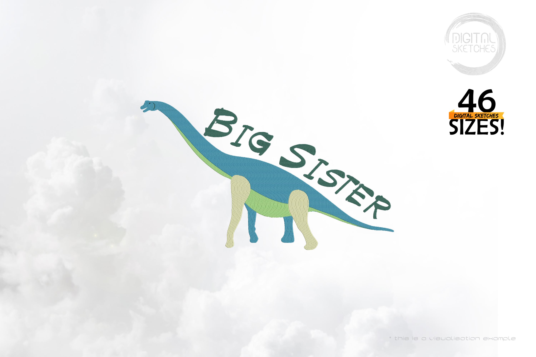 Dinosaur Brachiosaurus Big Sister