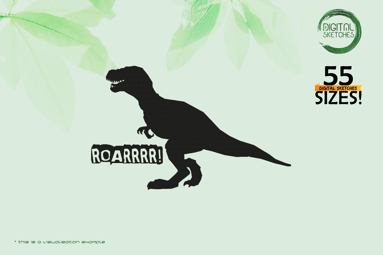 Tyrannosaurus Rex Dinosaur - Roarrr Saying