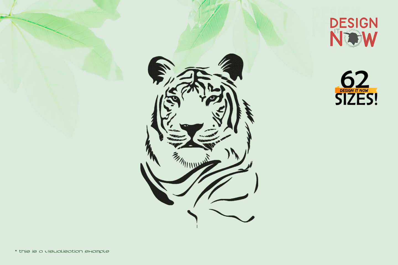 Tiger Head Line Art VI