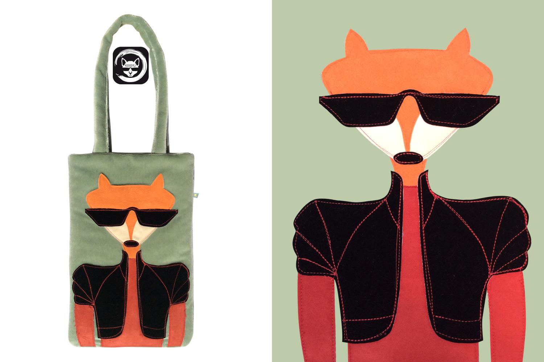 Fox Wool Tote Bag
