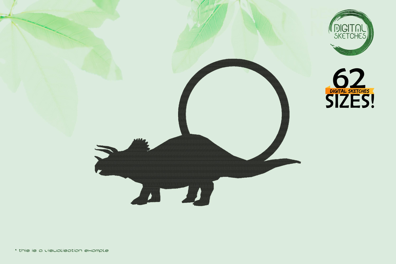 Dinosaurs-Triceratops-Dinosauria-Three-Horned-Face-Frame