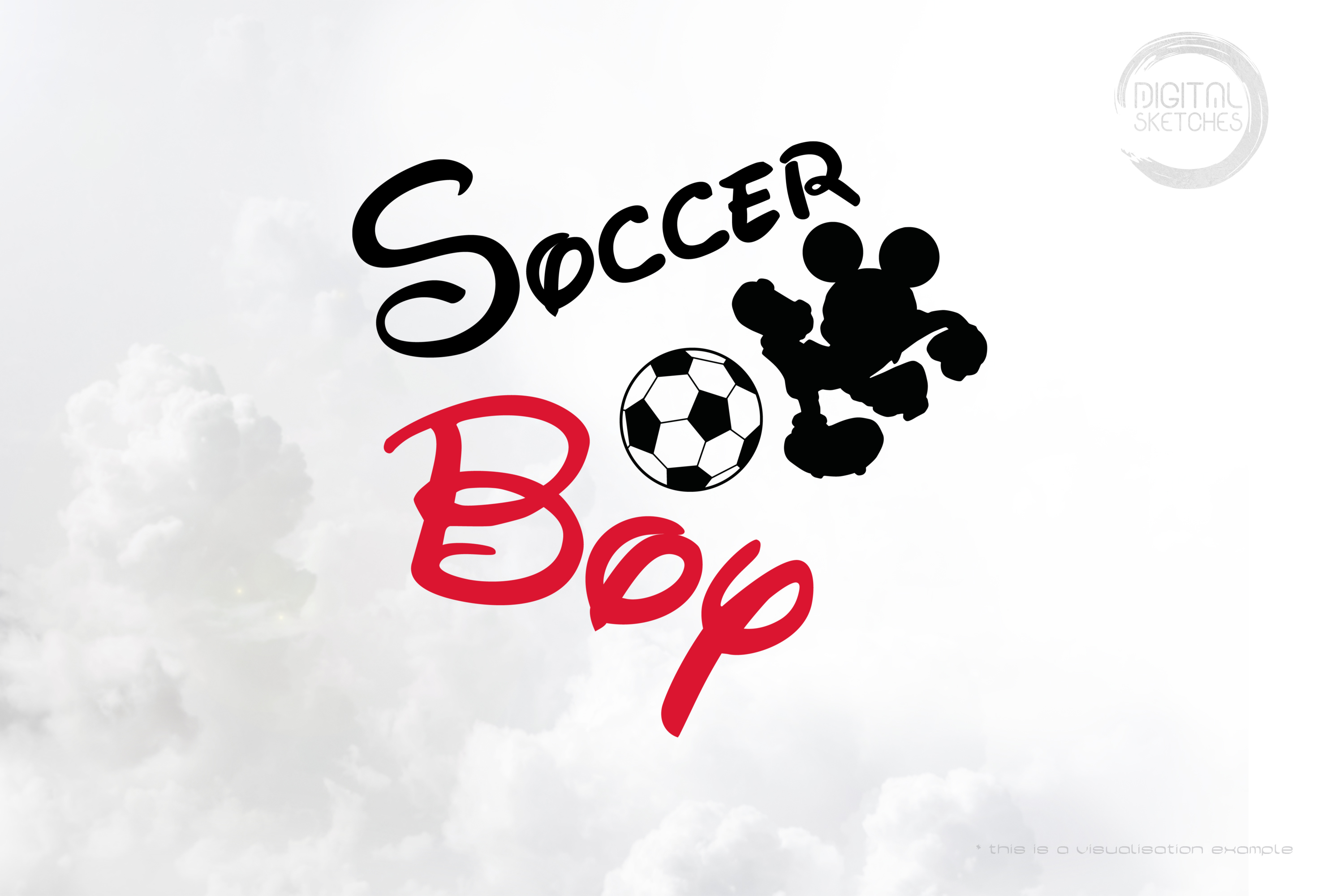 Mouse Soccer Boy Saying